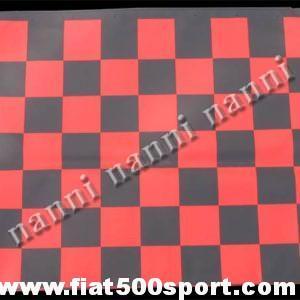 Art. 0001red - Capote Fiat 500 F / L / R  a scacchi rossi in tela gommata originale - Capote Fiat 500 F/L/R a scacchi rossi in tela gommata originale. Sostituisce senza modifiche la capote originale.