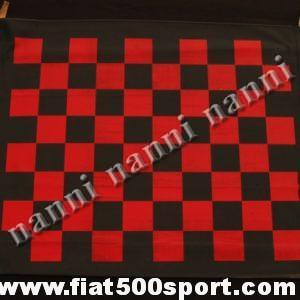 Art. 0001S - Fiat 500F/L/R red chess pattern capote. (Chess not perfect). - Fiat 500F/L/R red chess pattern capote . (chess not perfect)