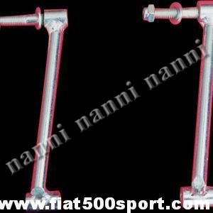 Art. 0002 - Giannini Fiat 500 pair rear hood supports, 10 cm high. - Giannini Fiat 500 pair rear hood supports, 10 cm high.