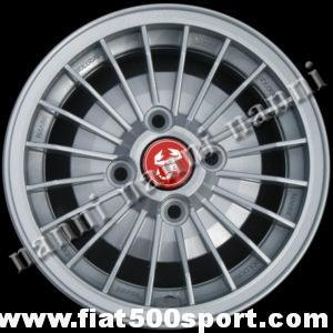 "Art. 0083 - Abarth 12"" alloy wheel with fixing Fiat, 4"" 1/2 in width. - Abarth 12"" alloy wheel with fixing Fiat, 4"" 1/2 in width.  ET 30."
