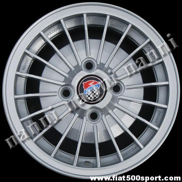 """Art. 0084 - Fiat 126 Giannini 12"""" alloy wheel , 4"""" 1/2 in width. - Fiat 126 Giannini 12"""" alloy wheel, 4""""1/2 in width. ET 30."""