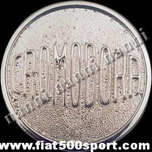 Art. 0097 - Borchia Fiat 500 per ruota in lega Cromodora. - Borchia Fiat 500 per ruota in lega Cromodora. Diam. Esterno mm. 75