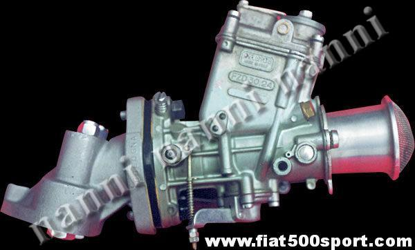 Kit Dell'Orto FZD 32/28 carburettor with manifold and alloy admission pipe