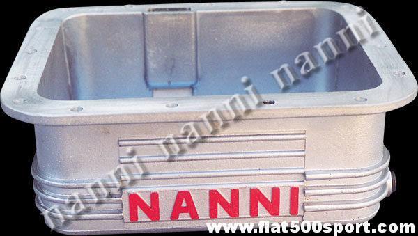 Art. 0271 - Sump Fiat 500 Fiat 126 NANNI light alloy 3,5 liters. - Fiat 500 Fiat 126 sump NANNI light alloy 3,5 l.