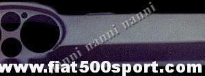 """Art. 0714 - Cruscotto Fiat 500 Francis Lombardi """"My car"""" per contagiri e contachilometri Ø 100 mm. - Cruscotto in vetroresina tipo Fiat 500 Francis Lombardi """"My car"""" per contagiri e contachilometri Ø 100 mm. È già verniciato e pronto per il montaggio. Nostra produzione."""