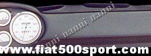 """Art. 0731bia - Cruscotto Fiat 500  """"My car"""" completo. - Cruscotto Tipo """"My car"""" di Francis Lombardi completo (Contagiri e contachilometri Bianchi Ø 100 mm. Manometro livello benzina e a scelta: manometro pressione olio oppure temperatura olio).  Luci spia verde e rossa. Tutto materiale nuovo, costruito in  Italia."""