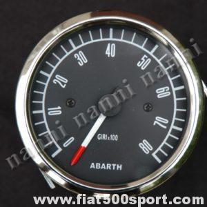 Art. 0743 - Contagiri Abarth nero Ø 80 mm, nuovo, elettronico. - Contagiri Abarth nero Ø 80 mm, nuovo, elettronico.