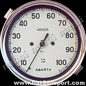 Art. 0745 - Contagiri Abarth Jaeger bianco nuovo Ø 100 mm, Elettronico - Contagiri Jaeger Abarth Bianco nuovo Ø 100 mm, Elettronico