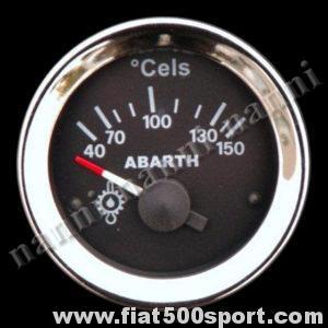 Art. 0772 - Manometro Abarth temperatura olio nero, nuovo. - Manometro Abarth temperatura olio nero diametro 52 mm. nuovo.