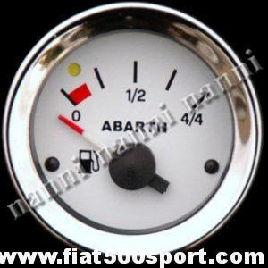 Art. 0776 - Manometro Abarth livello benzina bianco, nuovo. - Manometro Abarth  livello benzina bianco, nuovo, diametro 52 mm.