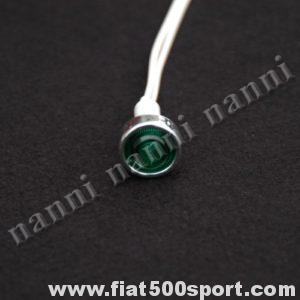 Art. 0808 - Luce spia verde per cruscotto - Luce spia di colore verde per cruscotto