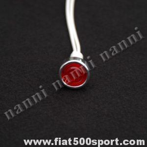 Art. 0809 - Luce spia rossa per cruscotto. - Luce spia di colore rosso per cruscotto.