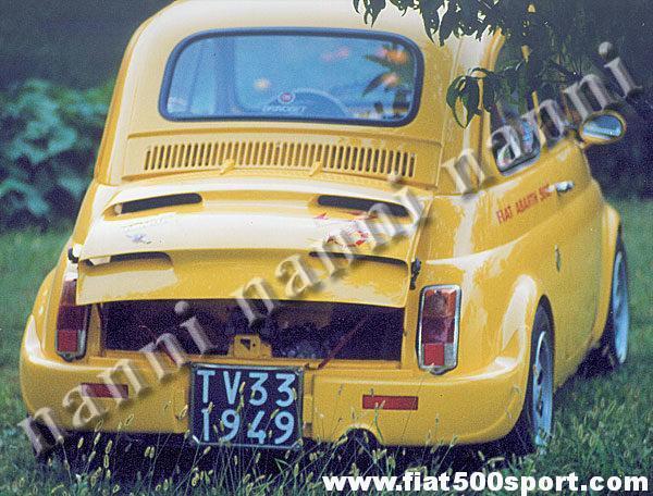 Paraurti Nanni Per Fiat 500 Posteriore In Vetroresina
