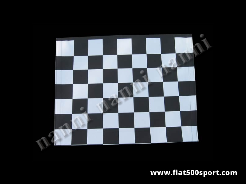 Art. 0001bia - Fiat 500 F L R white chess pattern capote. - Fiat 500 F L R white chess pattern capote.