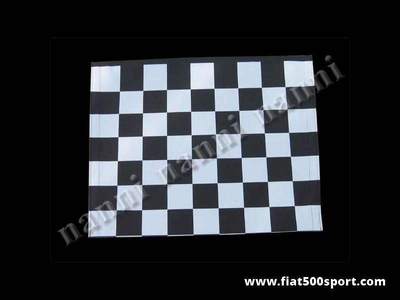 Art. 0001bia - Fiat 500 F L R white chess pattern capote. - Fiat 500 F L R white chess pattern capote.