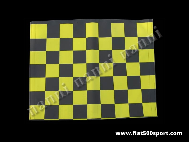 Art. 0001gia - Fiat 500 F L R  yellow chess pattern capote. - Fiat 500 F L R yellow chess pattern capote.