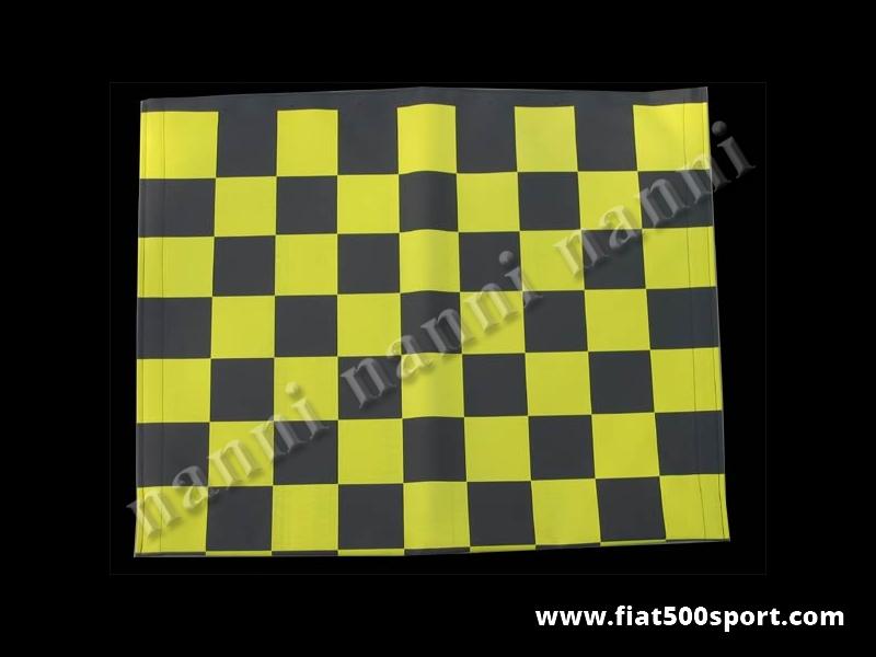 Art. 0001gia - Fiat 500 F L R  yellow chess pattern capote. - Fiat 500 F L R yellow chess pattern capote.