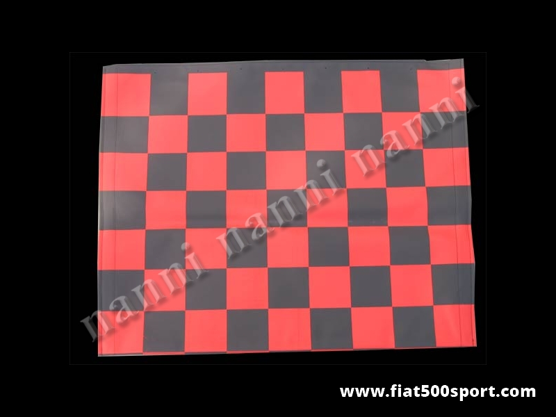 Art. 0001red - Fiat 500 F L R red chess pattern capote. - Fiat 500 F L R red chess pattern capote.