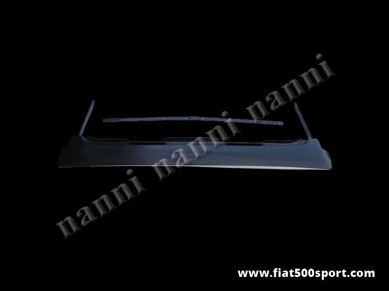 Art. 0001T - Telaio capote FIAT 500 F L R. - Telaio completo con le 3 barre traversali, compreso quella con perni filettati per capote FIAT 500 F L R. Forniamo inoltre gommini perni, viti e traverse. Kit completo.