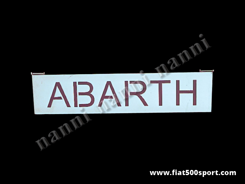 Art. 0003 - Abarth 595 Abarth 695 rear bonnet support grille chromed. - Abarth 595/695 rear bonnet support grille chromed.