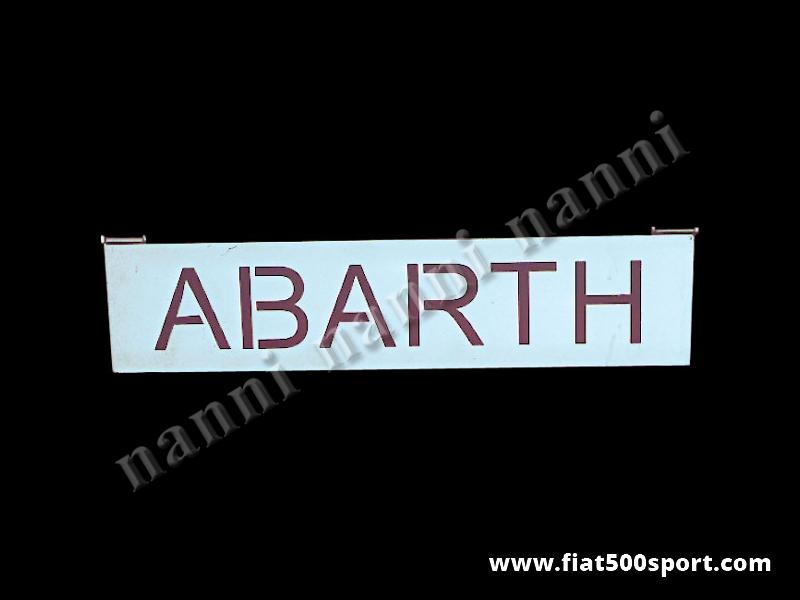 Art. 0003 - Alzacofano Fiat  Abarth 595 / 695 in acciaio cromato. - Alzacofano Fiat Abarth 595 695 in acciaio cromato. Il cofano motore e' molto stabile quando si apre e si può' chiudere con la serratura originale.