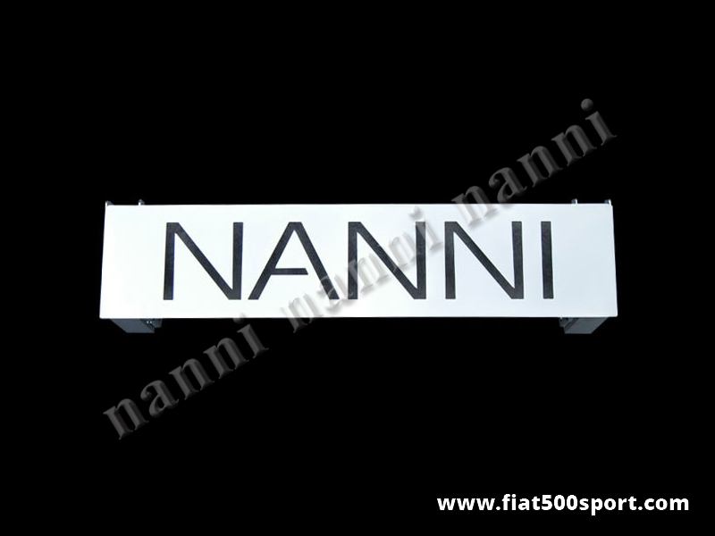 Art. 0005A - Fiat 500 NANNI rear bonnet support grille chromed. - Fiat 500 NANNI rear bonnet support grille chromed.