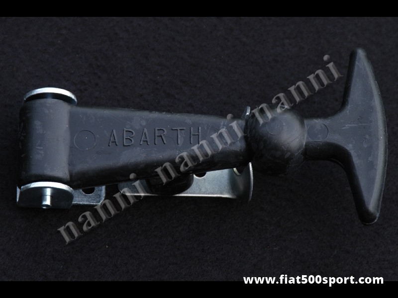 Art. 0008 - Abarth rubber bonnet fastener with mounting hardware. High - Abarth rubber bonnet fastener with mounting hardware. High