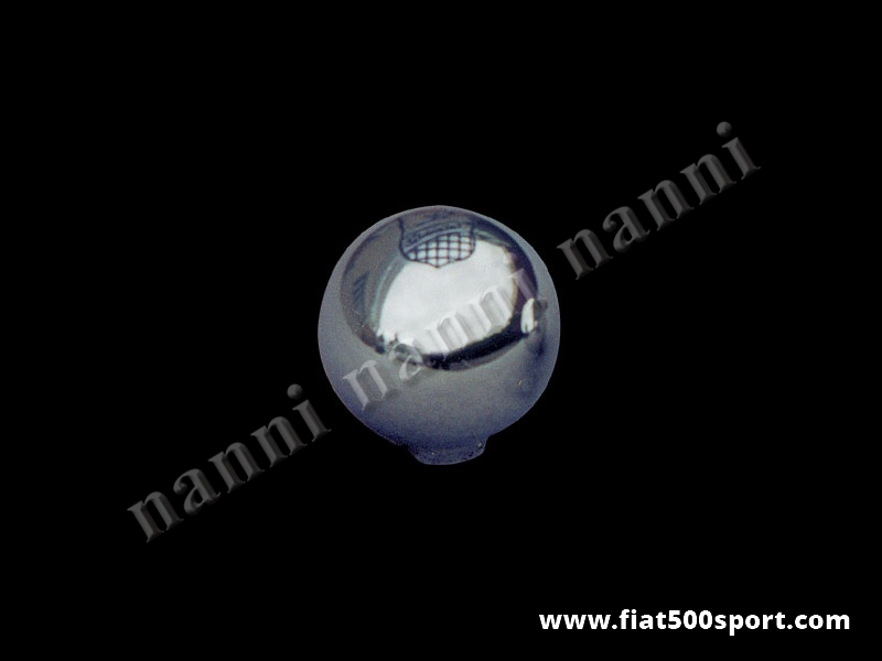 Art. 0026 - Fiat 500 Fiat 126 Giannini chromed aluminium gear knob. - Fiat 500 Fiat 126 Giannini chromed aluminium gear knob.