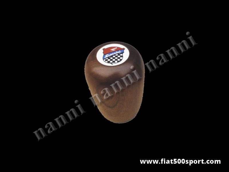 Art. 0030 - Pomello Fiat 500 Fiat 126 Giannini leva cambio in legno di mogano. - Pomello Fiat 500 Fiat 126 Giannini leva cambio in legno di mogano.