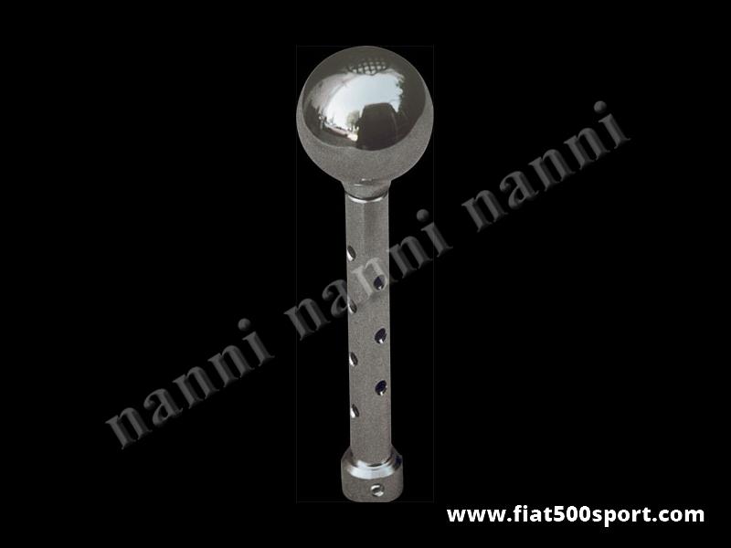 Art. 0036 - Fiat 500 Fiat 126 Giannini  speed change lever with chromed aluminium ballgrip. - Fiat 500 Fiat 126 Giannini speed change lever with chromed aluminium ballgrip.