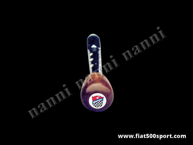 Art. 0040 - Leva cambio Fiat 500 Fiat 126 con pomello Giannini in legno di mogano. - Leva cambio Fiat 500 Fiat 126 con pomello Giannini in legno di mogano.