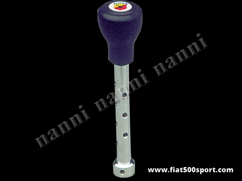 Art. 0041 - Leva cambio Fiat 500 Fiat 126 con pomello Abarth in poliuretano. - Leva cambio Fiat 500 Fiat 126 con pomello Abarth in poliuretano.