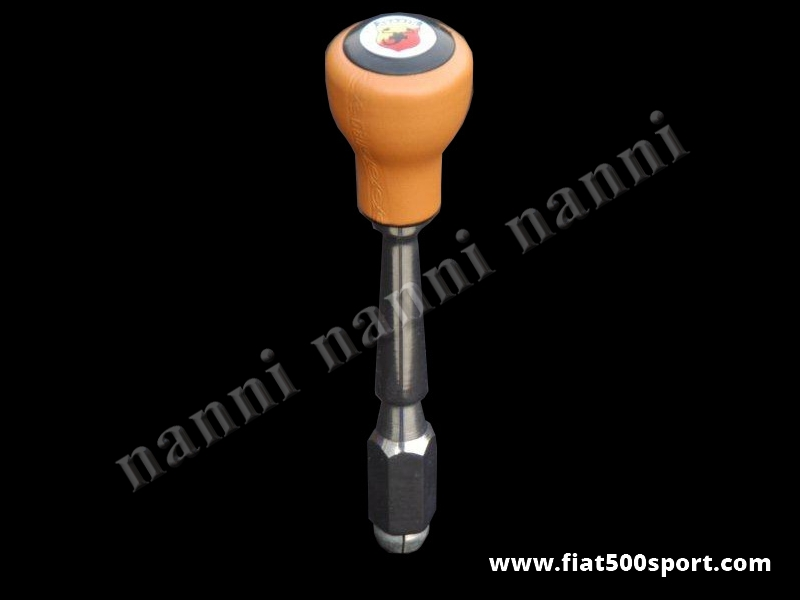 Art. 0041B - Fiat 500 Fiat 126 Abarth speed change lever with ocher color ballgrip. - Fiat 500 Fiat 126 Abarth speed change lever with ocher color ballgrip.