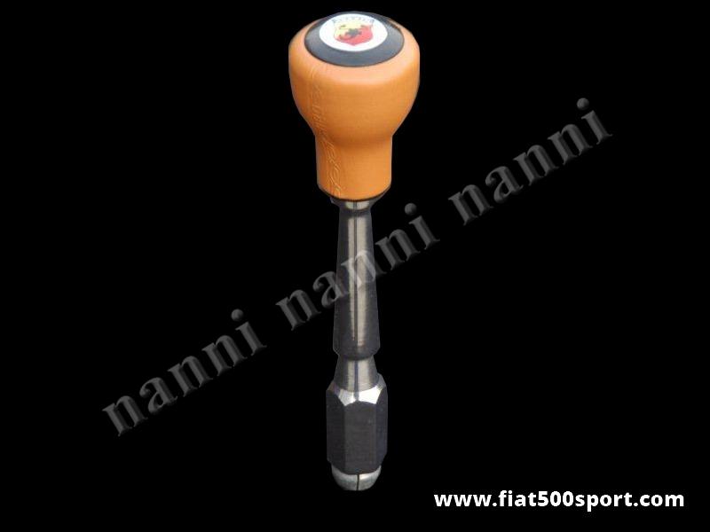 Art. 0041B - Leva cambio Fiat 500 Fiat 126 con pomello Abarth color ocra. - Leva cambio Fiat 500 Fiat 126  con pomello Abarth color ocra.