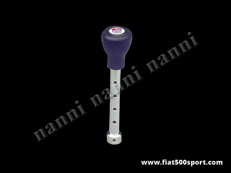 Art. 0042 - Leva cambio Fiat 500 Fiat 126 con  pomello Giannini in poliuretano. - Leva cambio Fiat 500 Fiat 126 con pomello Giannini in poliuretano.
