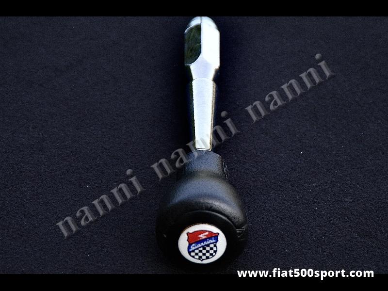 Art. 0042 - Leva cambio Fiat 500 Fiat 126 con  pomello Giannini in poliuretano nero. - Leva cambio Fiat 500 Fiat 126 con pomello Giannini in poliuretano di colore nero.
