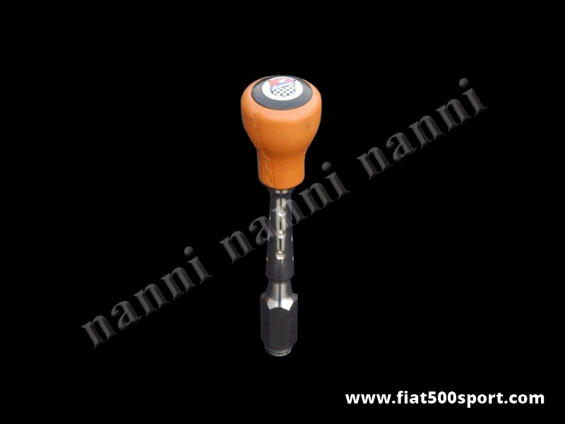 Art. 0042B - Fiat 500 Fiat 126 Giannini speed change lever with ocher color ballgrip. - Fiat 500 Fiat 126 Giannini speed change lever with ocher color ballgrip.