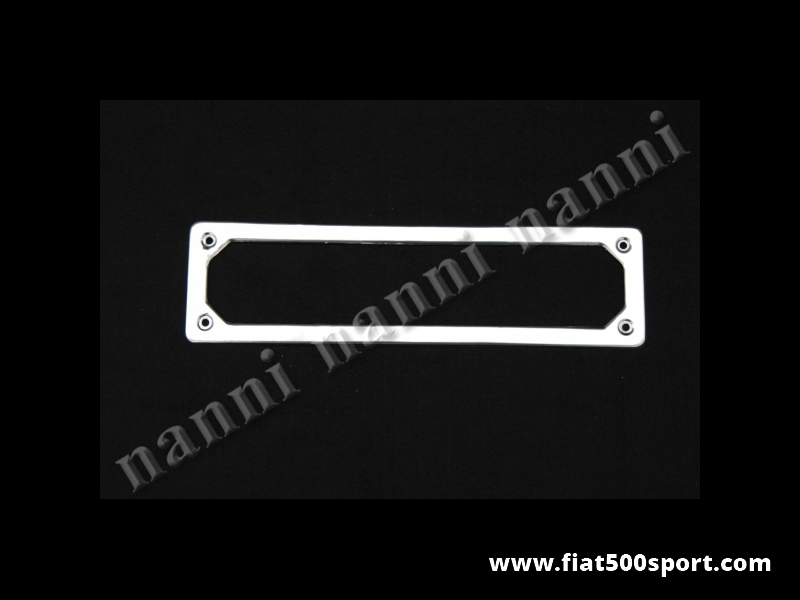 Art. 0046 - Fiat 500 Fiat 126  front license plate frame made of stainless steel. - Fiat 500 Fiat 126 front license plate frame made of stainless steel.