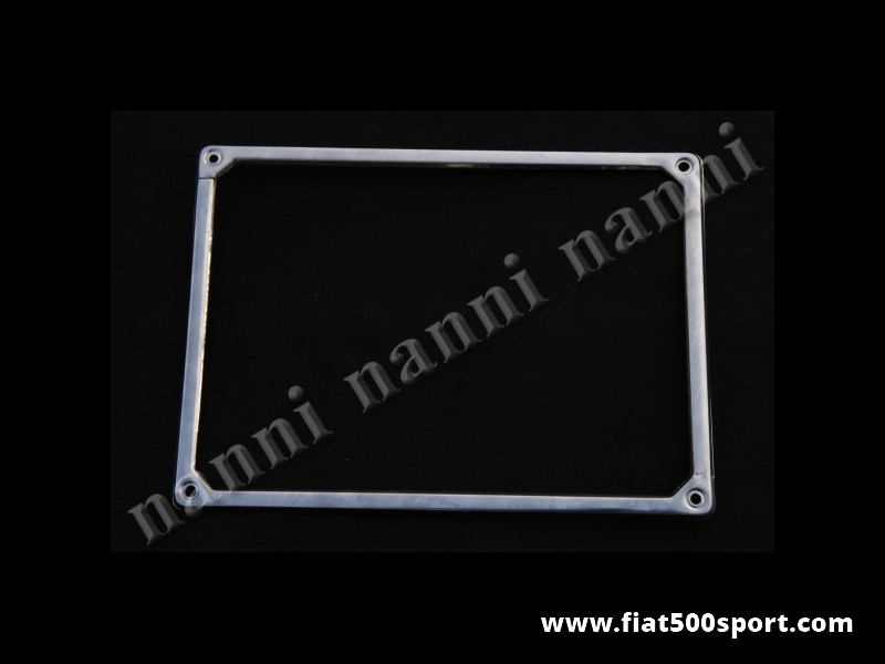 Art. 0047 - Fiat 500 Fiat 126 rear license plate frame made of stainless steel. - Fiat 500 Fiat 126 rear license plate frame made of stainless steel.
