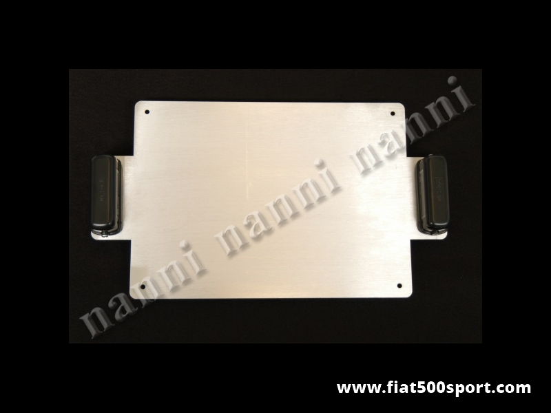 Art. 0048 - Fiat 500 Fiat 126  aluminium racing plate holder with light. - Fiat 500 Fiat 126 aluminium racing plate holder with light.
