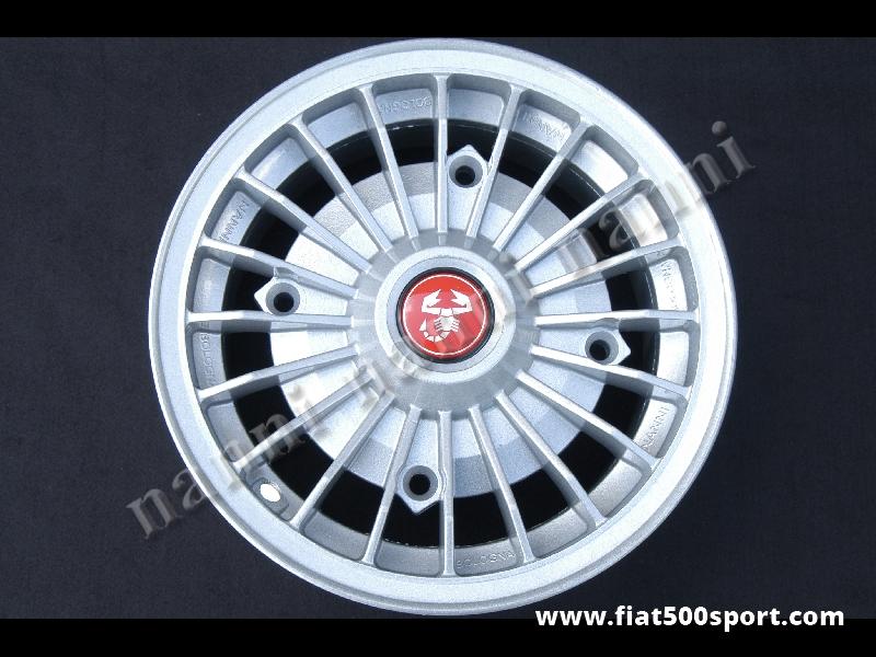"Art. 0073 - Fiat 500 Fiat 126 first model Abarth light alloy wheel 4,5"" x 12"" with bolts. - Fiat 500 Fiat 126 first model Abarth light alloy wheel 4,5"" x 12"" with bolts for 500 and 126 first model.  ET 30."