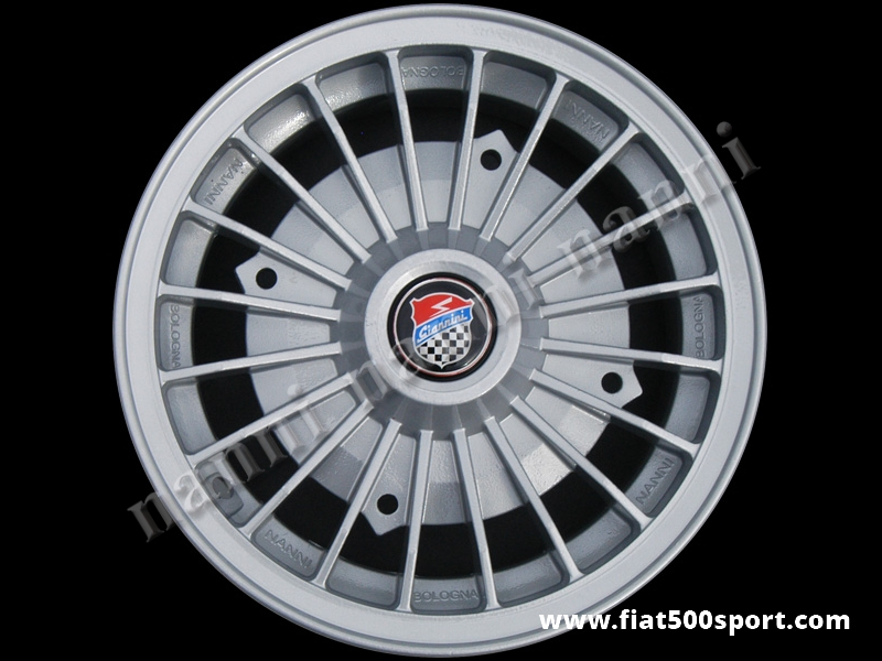 "Art. 0073G - Fiat 500 Fiat 126 first model Giannini light alloy wheel 4,5"" x 12"" with  bolts. - Fiat 500 Fiat 126 first model Giannini light alloy wheel 4,5"" x 12"" with bolts.ET 30."