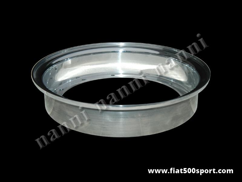 "Art. 0076a - Fiat 500 Fiat 126 NANNI light alloy half wheel size 10""x2"" in width. - Fiat 500 Fiat 126 NANNI light alloy half wheel size 10""x2"" in width."