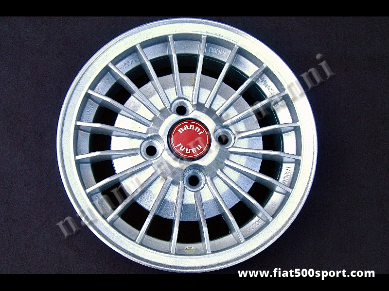 """Art. 0082 - Fiat 126 NANNI 12"""" alloy painted wheel with fixing Fiat, 4,5"""" in width. - Fiat 126 NANNI 12"""" alloy painted wheel with fixing Fiat 4,5"""" in width. ET 30."""