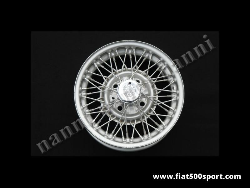 "Art. 0085 - Fiat 126 new Borrani wheel 12""x4"". - Fiat 126 new Borrani wheel built october 1968. Size 12""x4""."