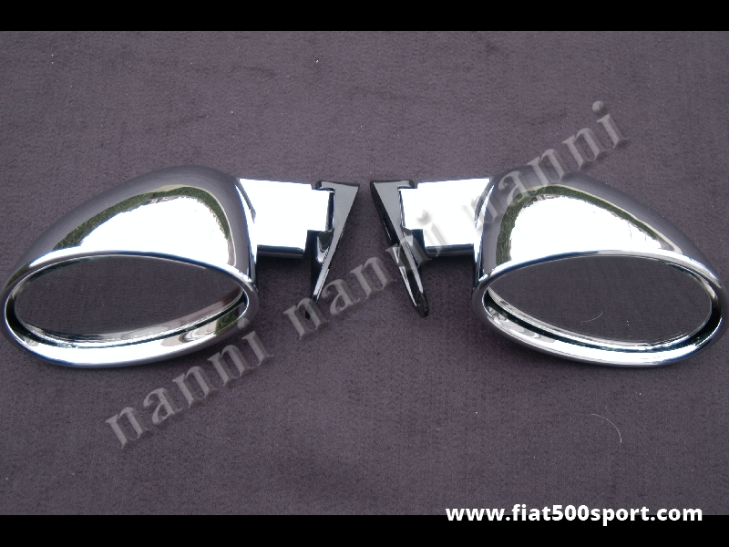 Art. 0088 - Specchi retrovisori Californian cromati (destro e sinistro) - Specchi retrovisori Californian cromati destro e sinistro. Coppia completa per una vettura. Altissima qualità.