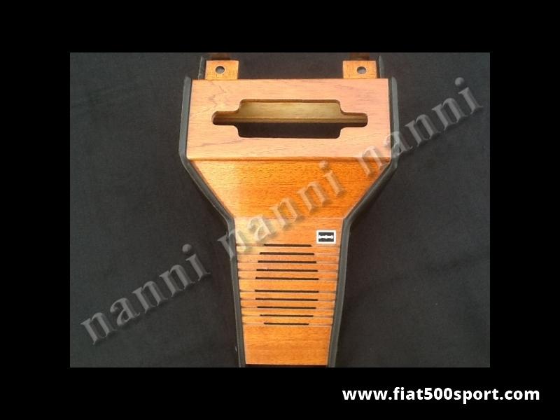 Art. 0093A - Fiat 500 mahogany wood radio console with speaker. - Fiat 500 mahogany wood radio console with speaker.