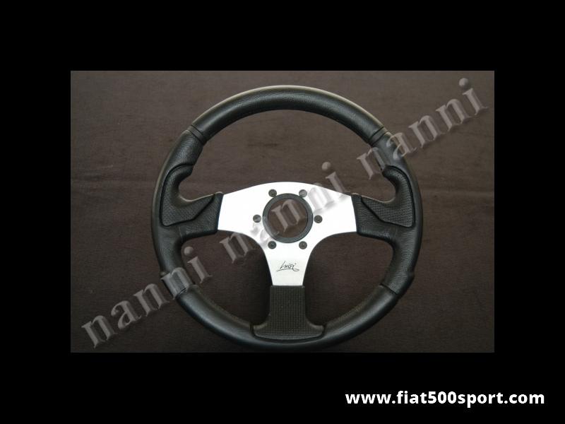 Art. 0101 - Steering wheel black, satined spokes. Diameter  320 mm. - Steering wheel black with satined spokes, ergonomic. Diameter 320 mm.