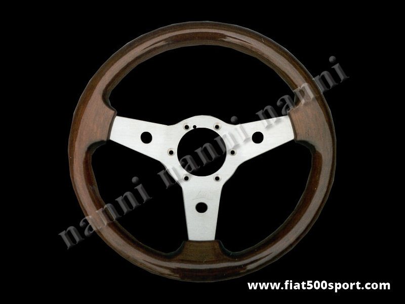 Art. 0104 - Steering wheel mahogany wood,satined spokes. Diameter 315 mm. - Steering wheel mahogany wood, satined spokes. Diameter 315 mm.