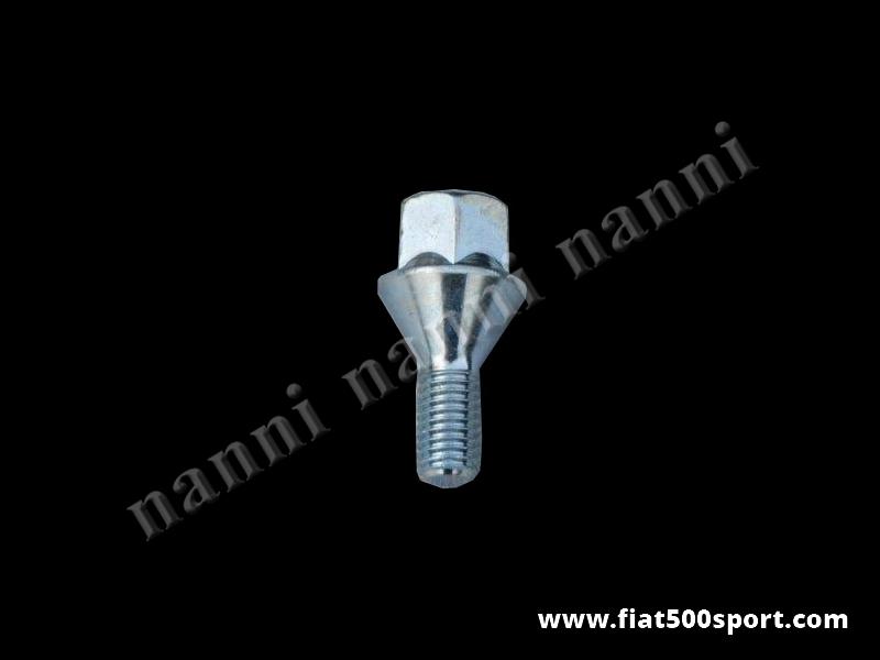 Art. 0107A - Fiat 500 wheel conical bolt 10×1,5×34 mm. - Fiat 500 wheel conical bolt 10×1,5×34 mm.